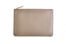 Katie Loxton IN THE BAG Perfect Pouch Clutch Bag - Oyster Grey